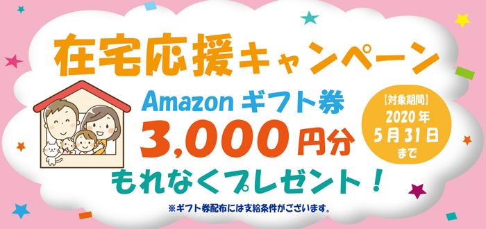 親指でんき【在宅応援キャンペーン】Amazonギフト券3,000円分プレゼント!