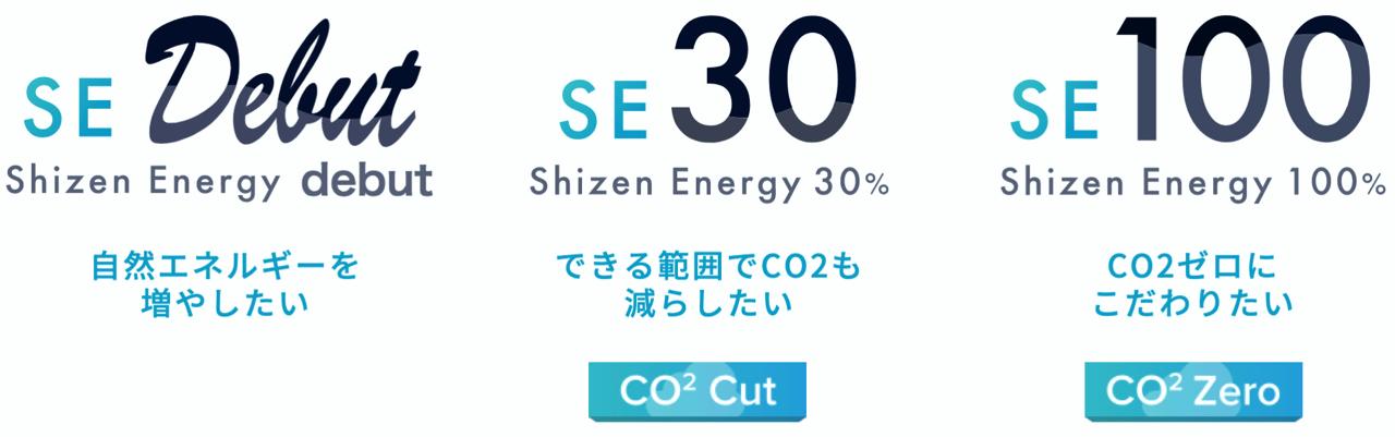 自然電力のでんき料金プラン(SEデビュー、SE30、SE100)