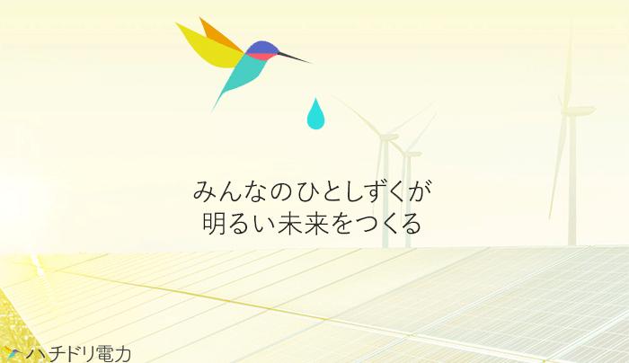 【ハチドリ電力】自然エネルギーと社会活動の支援をもっと身近に